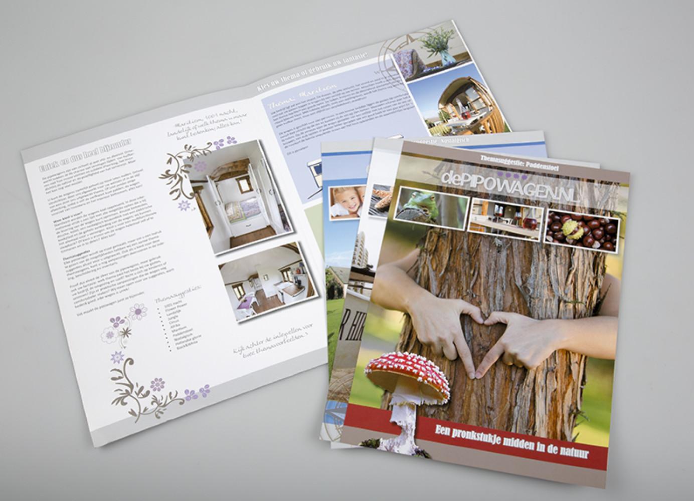 Door de handige insteekmap met losse flyers kan de brochure snel, eenvoudig en met weinig kosten geupdate worden