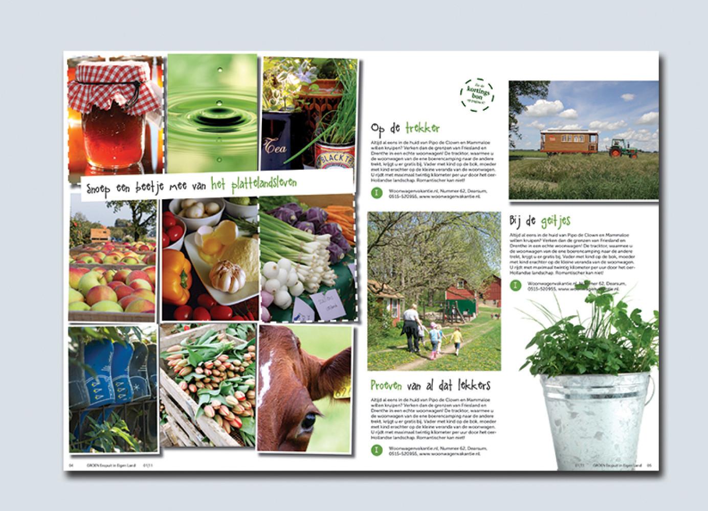 Maak uw eigen magazine! Leuk én handig als welkomst/informatiemagazine voor uw gasten bij aankomst!