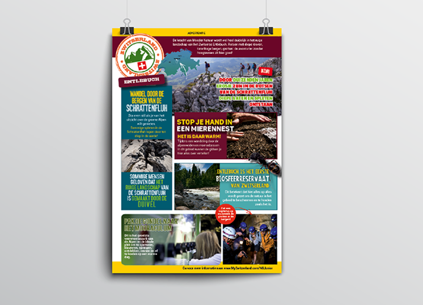 Advertentie Zwitserland Toerisme voor de regio Entlebuch