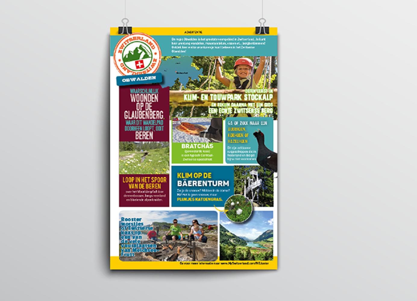 Advertentie Zwitserland Toerisme voor de regio Obwalden
