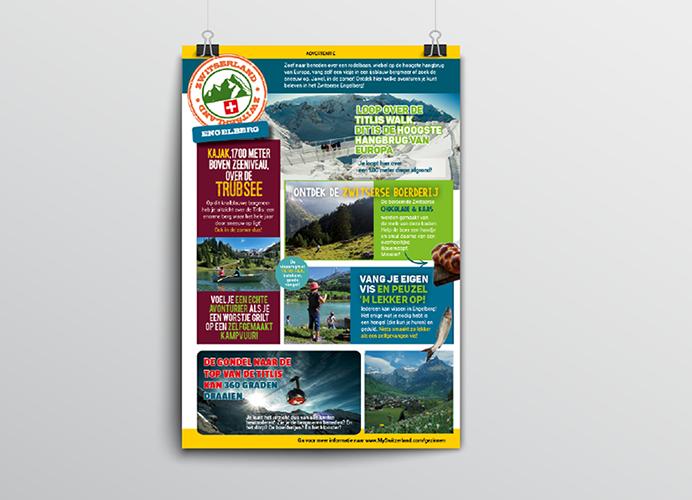 Advertentie Zwitserland Toerisme voor de regio Engelberg